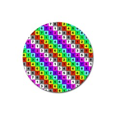 Mapping Grid Number Color Magnet 3  (round) by Jojostore