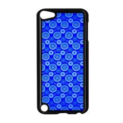 Neon Circles Vector Seamles Blue Apple iPod Touch 5 Case (Black) by Jojostore
