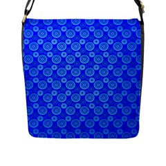 Neon Circles Vector Seamles Blue Flap Messenger Bag (l)  by Jojostore