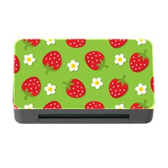 Strawberries Flower Floral Red Green Memory Card Reader With Cf by Jojostore