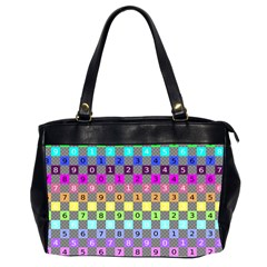 Test Number Color Rainbow Office Handbags (2 Sides)  by Jojostore
