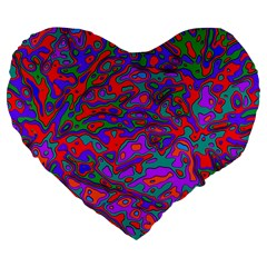 We Need More Colors 35b Large 19  Premium Flano Heart Shape Cushions by MoreColorsinLife