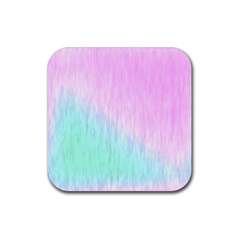 Pink Green Texture                                                       			rubber Square Coaster (4 Pack by LalyLauraFLM