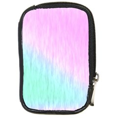 Pink Green Texture                                                       compact Camera Leather Case by LalyLauraFLM