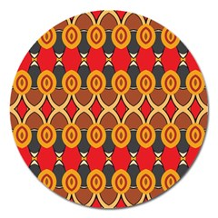 Ovals Pattern                                                         magnet 5  (round) by LalyLauraFLM
