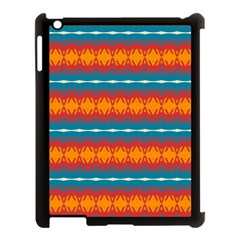 Shapes rows                                                         			Apple iPad 3/4 Case (Black) by LalyLauraFLM