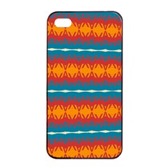 Shapes Rows                                                         			apple Iphone 4/4s Seamless Case (black) by LalyLauraFLM