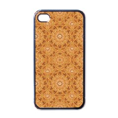 Intricate Modern Baroque Seamless Pattern Apple Iphone 4 Case (black) by dflcprints
