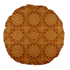 Intricate Modern Baroque Seamless Pattern Large 18  Premium Round Cushions by dflcprints