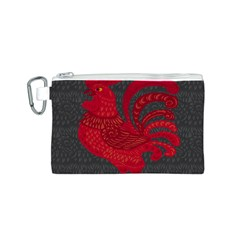 Red Fire Chicken Year Canvas Cosmetic Bag (s) by Valentinaart