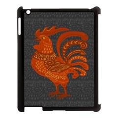 Chicken Year Apple Ipad 3/4 Case (black) by Valentinaart