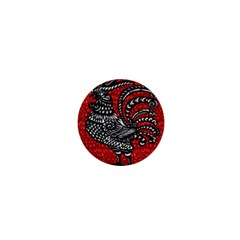 Year Of The Rooster 1  Mini Buttons by Valentinaart