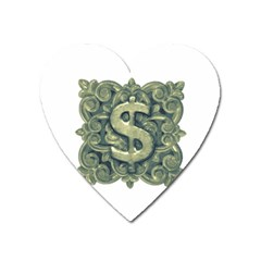 Money Symbol Ornament Heart Magnet by dflcprints