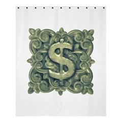Money Symbol Ornament Shower Curtain 60  X 72  (medium)  by dflcprints