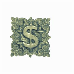 Money Symbol Ornament Small Garden Flag (two Sides) by dflcprints