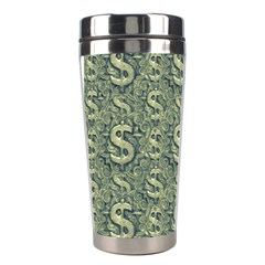 Money Symbol Ornament Stainless Steel Travel Tumblers by dflcprintsclothing
