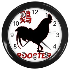 Year Of The Rooster   Chinese New Year Wall Clocks (black) by Valentinaart