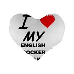English Cocker Sp Love Standard 16  Premium Heart Shape Cushions