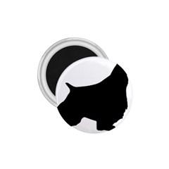 English Springer Spaniel Silo Black 1.75  Magnets