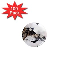 Birds Crows Black Ravens Wing 1  Mini Magnets (100 Pack)  by Amaryn4rt