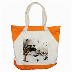 Birds Crows Black Ravens Wing Accent Tote Bag by Amaryn4rt