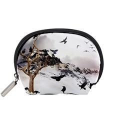 Birds Crows Black Ravens Wing Accessory Pouches (small)