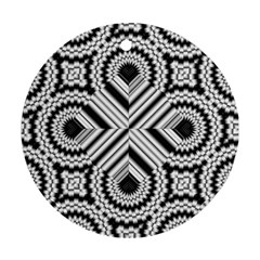 Pattern Tile Seamless Design Round Ornament (two Sides) by Amaryn4rt