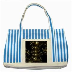 Fractal Math Geometry Backdrop Striped Blue Tote Bag by Amaryn4rt
