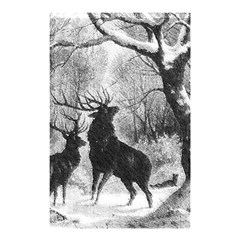 Stag Deer Forest Winter Christmas Shower Curtain 48  X 72  (small)  by Amaryn4rt