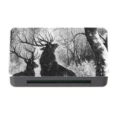 Stag Deer Forest Winter Christmas Memory Card Reader With Cf by Amaryn4rt