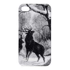 Stag Deer Forest Winter Christmas Apple Iphone 4/4s Premium Hardshell Case by Amaryn4rt