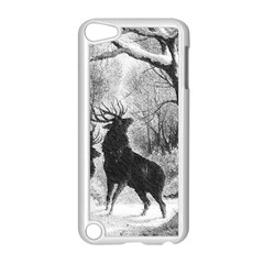 Stag Deer Forest Winter Christmas Apple Ipod Touch 5 Case (white) by Amaryn4rt