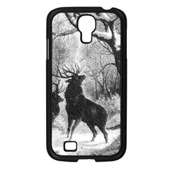 Stag Deer Forest Winter Christmas Samsung Galaxy S4 I9500/ I9505 Case (black) by Amaryn4rt