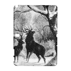 Stag Deer Forest Winter Christmas Galaxy Note 1 by Amaryn4rt