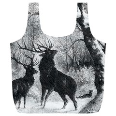 Stag Deer Forest Winter Christmas Full Print Recycle Bags (l)