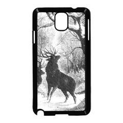 Stag Deer Forest Winter Christmas Samsung Galaxy Note 3 Neo Hardshell Case (black) by Amaryn4rt