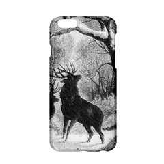 Stag Deer Forest Winter Christmas Apple Iphone 6/6s Hardshell Case by Amaryn4rt