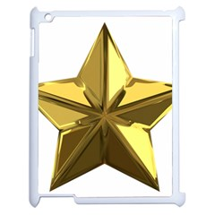 Stars Gold Color Transparency Apple Ipad 2 Case (white) by Amaryn4rt
