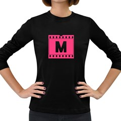 Pink Film  Women s Long Sleeve T Shirt (dark Colored) by makeunique