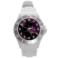 Fantasy Fractal 124 A Round Plastic Sport Watch (l) by Fractalworld