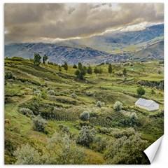 Andean Rural Scene Quilotoa, Ecuador Canvas 16  X 16   by dflcprints