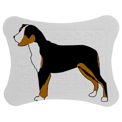 Entlebucher Mt Dog Silo Color Jigsaw Puzzle Photo Stand (Bow) by TailWags