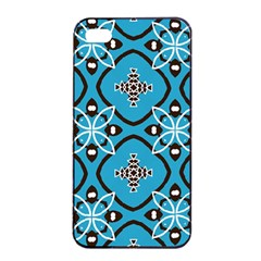 Ornamental Flowers Pattern                                                        			apple Iphone 4/4s Seamless Case (black) by LalyLauraFLM