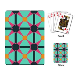 Pink Stars Pattern                                                          playing Cards Single Design by LalyLauraFLM