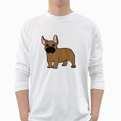 French Bulldog Tan Cartoon White Long Sleeve T Shirts by TailWags