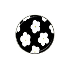 April Fun Pop Floral Flower Black White Yellow Rose Hat Clip Ball Marker (4 Pack) by Jojostore