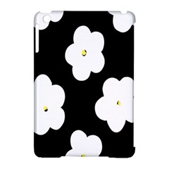 April Fun Pop Floral Flower Black White Yellow Rose Apple Ipad Mini Hardshell Case (compatible With Smart Cover) by Jojostore