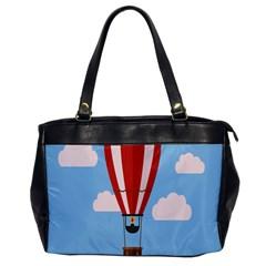 Air Ballon Blue Sky Cloud Office Handbags by Jojostore