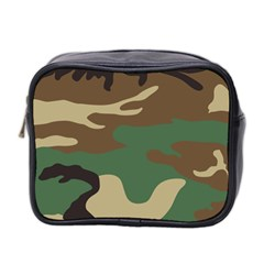 Army Shirt Green Brown Grey Black Mini Toiletries Bag 2 Side by Jojostore