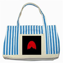Awesome Photos Collection Minimalist Moon Night Red Sun Striped Blue Tote Bag by Jojostore